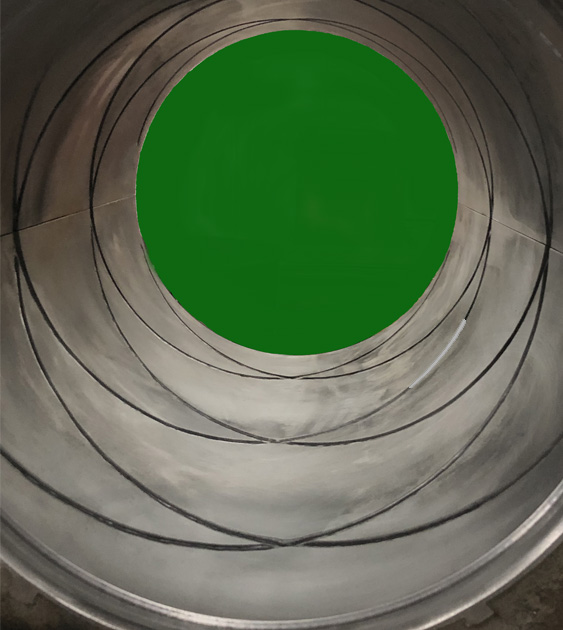 Tapered Guide Bearings close up